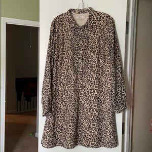 Fit and flare cheetah print dress